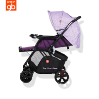 gb好孩子婴儿高景观可坐可躺四轮避震儿童折叠轻便推车C400/C450