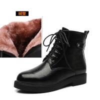 马丁靴女靴子冬鞋2018秋冬季新款小短靴女英伦风秋款矮靴平底真皮