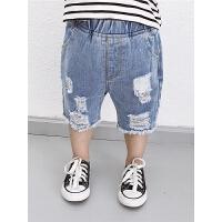 男童牛仔裤宝宝夏装男短裤破洞儿童夏季裤子