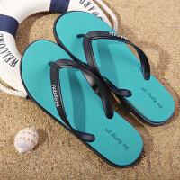时尚男士人字拖夏季防滑户外凉拖夹脚情侣港风休闲橡胶沙滩鞋潮流