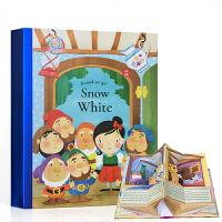 顺丰包邮 英文原版 Snow White 白雪公主童话故事绘本 立体书 支持小达人点读 世界经典童话故事儿童早教启蒙英
