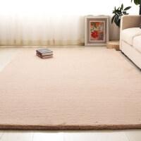 加厚长毛绒卧室客厅地毯茶几毯床边现代简约纯色仿兔毛满铺家用k