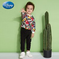 【2件3折后价:89.7元】迪士尼童装春新款男女童时尚圆领卫衣套装儿童针织套装中小童