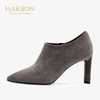 【 限时4折】哈森 2019秋季新款通勤OL风尖头单鞋女HL96616