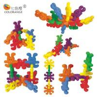 奇趣积木 塑料积木拼插玩具 玩具3岁以上积木玩具