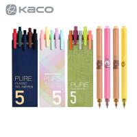 【跨店每满100-50】KACO书源复古五色按动中性笔ins学生可爱创意0.5彩色水笔手账黑笔
