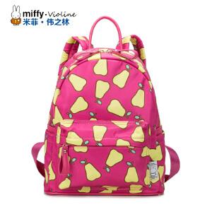 Miffy米菲 2016小清新印花双肩包男女 韩版潮时尚水果休闲尼龙布防水背包学生书包