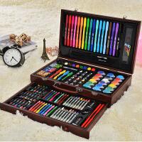 儿童水彩笔套装幼儿园蜡笔小学生画画笔绘画彩色笔安全可水洗 123件木盒套装 送画本+调色盘