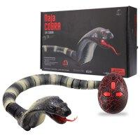 遥控毒蛇动物送儿童男礼物玩具眼镜蛇整蛊吓人玩具蟒蛇王 官方标配