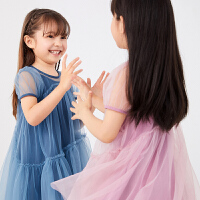 【秒杀价:198元】马拉丁童装女童连衣裙2020春夏新款两件套泡泡袖网纱公主裙