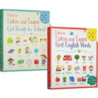 英文原版 Usborne出品 Listen and Learn 触摸单词发音书 2册合售 边听边学 幼儿趣味启蒙卡片书