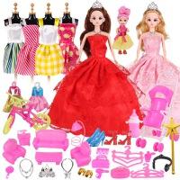 洋娃娃 女孩仿真 单个换装公主仿真洋娃娃套装礼盒女孩婚纱礼服过家家玩具 散装无礼盒
