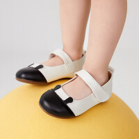 【秒杀价:135元】马拉丁童鞋女小童皮鞋春装2020年新款洋气撞色舒适单鞋儿童鞋