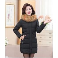 中老年女装冬装棉衣外套中长款40岁50中年女妈妈加厚羽绒棉袄