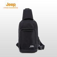 【特惠价】Jeep/吉普 户外运动登山包黑色运动休闲单肩包男士斜跨包J833178204