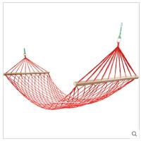尼龙绳吊床户外网状吊床网兜加粗加宽木棍秋千
