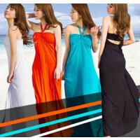 超垂坠超显瘦沙滩裙  性感长裙    欧美海边度假沙滩   拖地沙滩裙