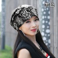 帽子女韩版潮时尚百搭月子帽春秋款产后薄款孕妇帽化疗头巾包头帽 轻薄透气(56-59cm)