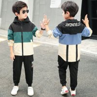 儿童套装 男童韩版童装2020新款帅气运动套装男孩秋装运动服中大童儿童拼色两件套