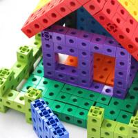 多面拼接玩具早教益智力力桌面百变方块积木儿童塑料拼插幼儿园拼装