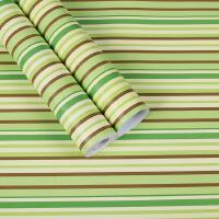 北欧ins风格pvc防水墙纸自粘彩色条纹大学生宿舍寝室桌子衣柜壁纸 仅墙纸