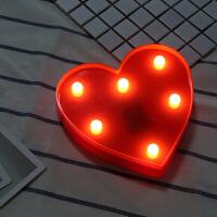 英文灯婚庆布置橱窗字母灯LED数字灯装饰灯道具表白求婚生日派对