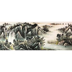 石庆《溪山雅居图》著名画家