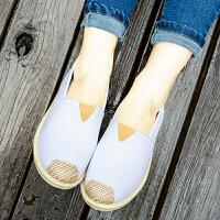 布鞋 女士一脚蹬低帮渔夫鞋2019春夏季新款韩版时尚女式新潮透气休闲学生鞋子