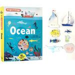英文原版绘本 Ocean 海洋 精装 小学生STEM阅读磁铁操作书 含45个磁铁配件 儿童自然科普 Twirl法国艺术