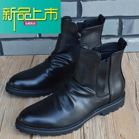 新品上市马丁靴男英伦高帮复古真皮短靴男靴子工装男皮靴秋冬季男鞋子