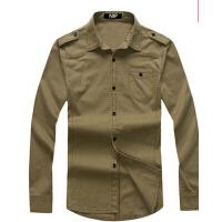 男士衬衫 军旅风男装  军装衬衣户外工装水洗纯棉长袖衬衫