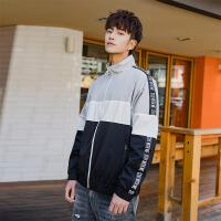 森马潮牌GLEMALL 外套春季青少年学生宽松时尚韩版拼接撞色夹克男潮