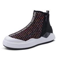 男鞋白色高帮鞋子休闲运动板鞋高邦嘻哈韩版潮流百搭潮
