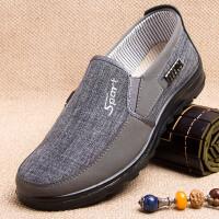男士老北京布鞋春秋爸爸鞋懒人鞋男父亲鞋中年人休闲鞋男鞋