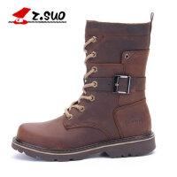 Z.Suo/走索新款英伦马丁靴短靴军靴平底靴单靴粗跟女靴子潮ZS788