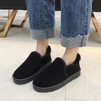 雪地靴女2018冬季新品韩版加绒短靴学生平底百搭保暖棉靴子
