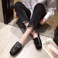 穆勒鞋女2019春季新款方头露趾外穿休闲时尚女鞋简约百搭凉拖鞋女