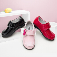 女童皮鞋真皮公主鞋子2019春秋新款学生鞋黑色小女孩儿童皮鞋