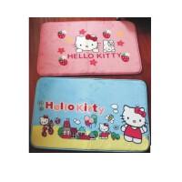 日照鑫 凯蒂猫细珊瑚绒可爱hello kitty地垫门垫床前垫 KT猫地垫地毯