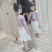 女童套装裙夏装儿童公主裙中大童女孩两件套