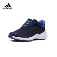 阿迪达斯(adidas)男童鞋新款魔术贴儿童运动跑步鞋AH2628 深蓝色
