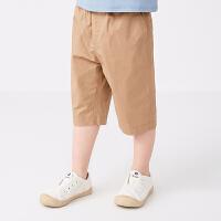 【秒杀价:135元】马拉丁童装男童裤子2020春夏新款舒适棉布中裤宽松儿童阔腿裤