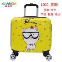 儿童行李箱16寸可爱卡通登机箱万向轮耐磨logo定制箱包批发