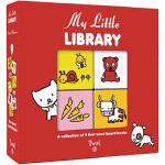 英文原版 My Little Library 我的盒装小书组 9册礼盒装 可拼图手掌书 亲子互动绘本 培养整理习惯 T
