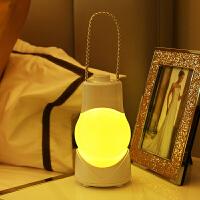 调光定时八音盒小夜灯手提充电智能台灯开关卧室护眼婴儿床头灯