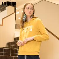【秒杀价161】Lagogo/拉谷谷2019春季新款甜美学院休闲卫衣女IAEE411C02