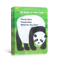 【全店300减100】英文原版进口 卡尔爷爷代表作 Panda Bear,Panda Bear, What Do You
