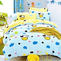 儿童宝宝棉床单被套1.2m学生宿舍单人床三件套1.5米床上用品