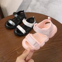 童鞋夏季男女童沙滩鞋露趾休闲软底包头儿童凉鞋