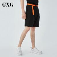 GXG男装 夏季男士新品时尚潮流黑色休闲短裤男#182222318
